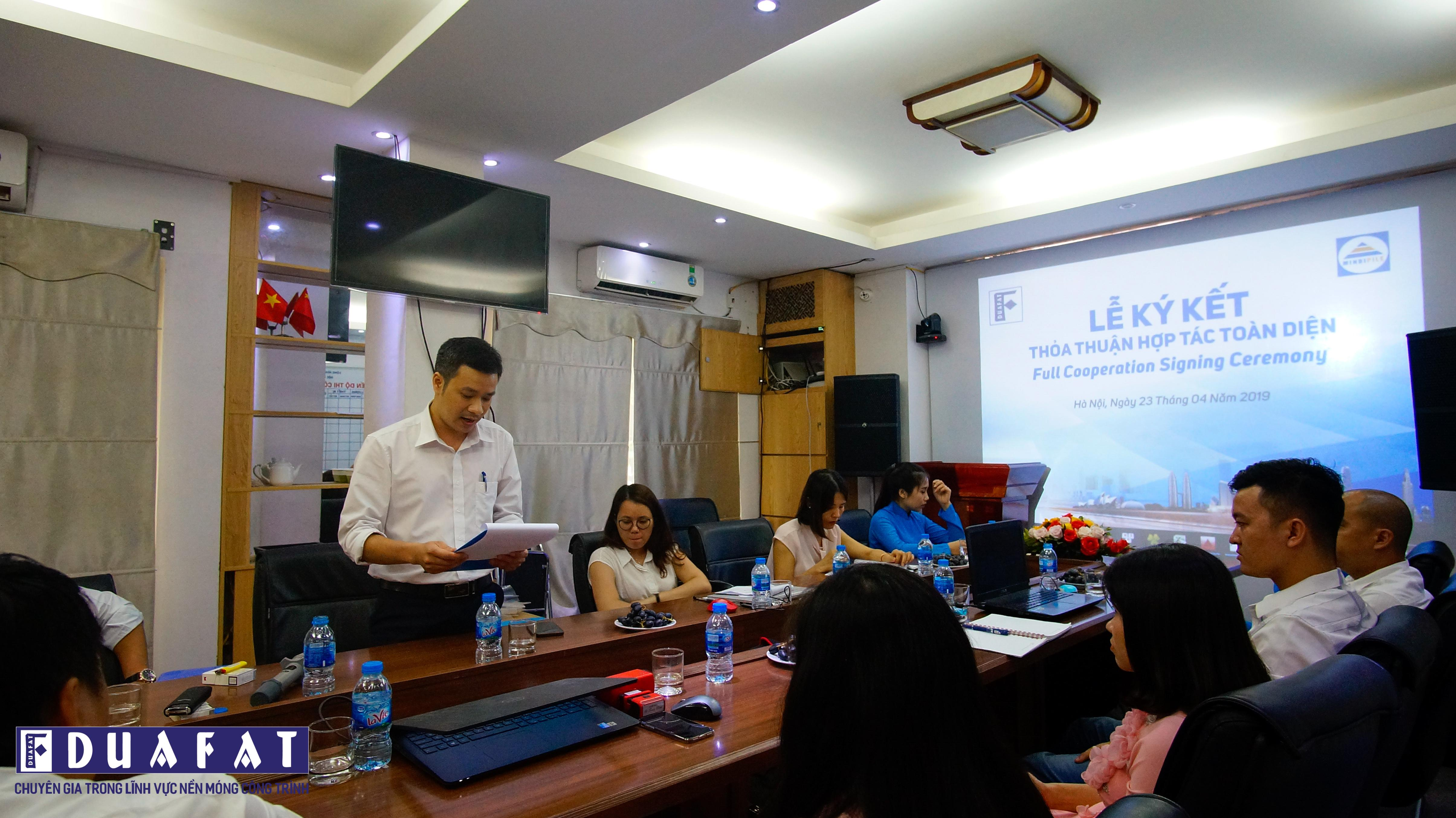 Mr. Cao Ngoc Thu – Head of Economic Division Dua Fat Foundation JSC read the full of cooperation