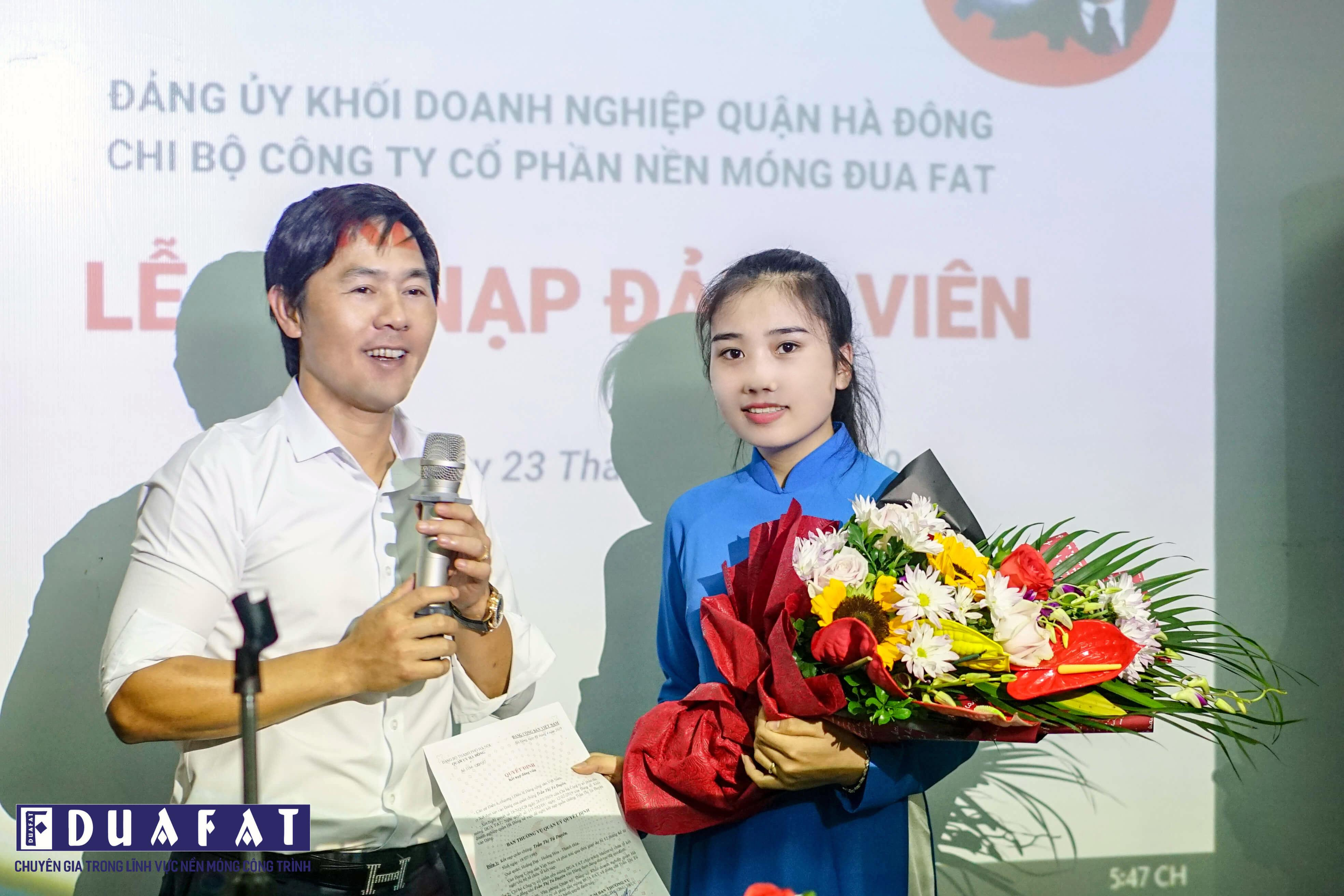 CEREMORY OF COMMUNIST PARTY ADMISSION AT DUA FAT